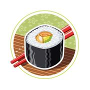 Sushi. Japanese food - stock illustration