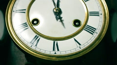 Old pendulum clock Stock Footage
