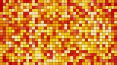 Orange tiles glass mosaic seamless loop background 4k (4096x2304) Stock Footage