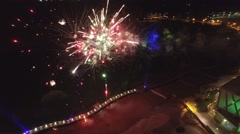 Fireworks Lago Top view - stock footage