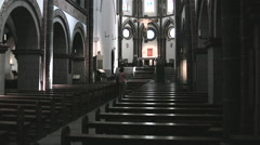 Interior view of St Severus Church in Boppard West Germany Stock Footage