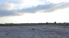 Open desert field slider beautiful clouds nature 4K Stock Footage