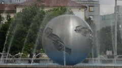 Water Fountain in front of The Presidents (or Grassalkovich) palace Stock Footage