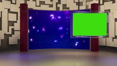 Entertainment TV Studio Set 26 - Virtual Green Screen Background Loop Stock Footage