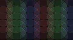 Stock Video Footage of 4k round tangram mosaic matrix pattern,plastic card paper,fractal geometry circ
