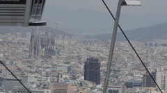 Barcelona Emblematic Iconic Landscape Stock Footage