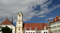 Time lapse from Old Town Hall in Bratislava Slovakia Stock Footage