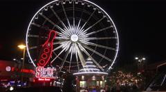 Skywheel, Niagara Falls Canada Stock Footage