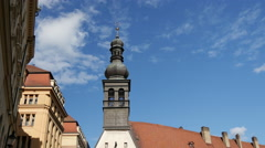 Stock Video Footage of Time lapse from the Ursuline Church and Convent in Bratislava Slovakia
