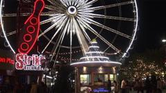 Skywheel, Niagara Falls Canada, 4k Stock Footage