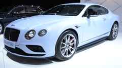 Bentley Continental GT V8 S sports car Stock Footage