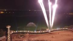 Fireworks Lago fontain Stock Footage