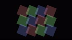 4k Square tangram mosaic matrix pattern,plastic card paper,fractal geometry box Stock Footage
