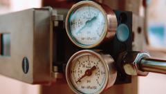 Pressure measurement - stock footage