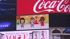 4K Closeup big screen Piccadilly Circus London landmark electronic advertising  Stock Footage
