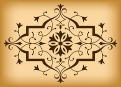 Vector baroque ornament in Victorian style. - stock illustration
