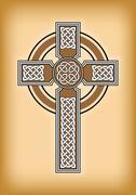 Celtic cross - stock illustration