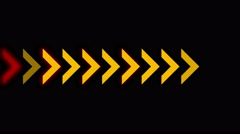 4k Direction arrow queue design signs background,game software process backdrop Stock Footage