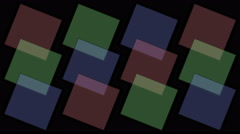 Stock Video Footage of 4k Square tangram mosaic matrix pattern,plastic card paper,fractal geometry box