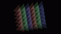 Stock Video Footage of 4k triangle tangram mosaic matrix pattern,plastic card paper,fractal geometry d