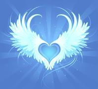 heart of an angel - stock illustration