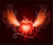 heart of the phoenix - stock illustration