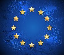 Stock Illustration of Grungy European Union symbol