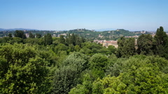 Overview Florenze from Fort Belvedere Stock Footage