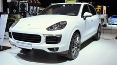 Porsche Cayenne S E-Hybrid plug-in hybrid SUV Stock Footage