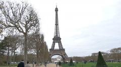 Eiffel Tower Paris cloudy HD Stock Footage