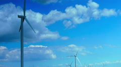 Concept Of Using Natural Resources Intelligently.Wind Turbines.Time Lapse Stock Footage