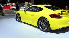Porsche Cayman GT4 sports car Stock Footage