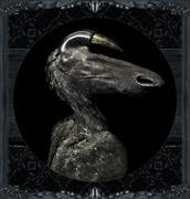 Fantasty Dark Alien Monster Portrait Stock Illustration