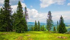 Stunning 4K Hyper lapse Mountain cloud landscape Stock Footage