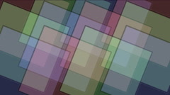 4k Square tangram mosaic matrix pattern,plastic card paper,fractal geometry box Stock Footage