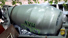 12th Man Cement Mixer tight shot Stock Footage
