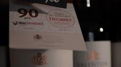 Award-Winning wine - Salentein Malbec Stock Footage