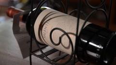 Award-Winning wine - Salentein Malbec - Elegant Display Stock Footage