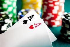 Pocket Aces - stock photo