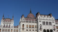The Hungarian Parliament Building in Budapest, Hungary Stock Footage