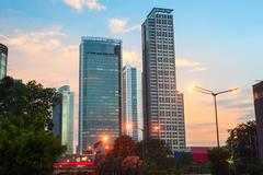 Downtown of Jakarta, Indonesia - stock photo