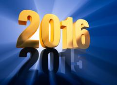 Stock Illustration of 2016 Replaces 2015