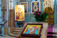 Georgia church altar - stock photo