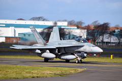 F-18 Close - stock photo