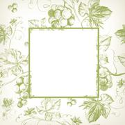 Vine seamless background Stock Illustration