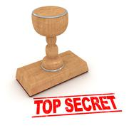 Rubber stamp - top secret - stock illustration