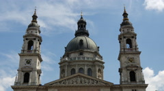 Time lapse from the St. Stephen's Basilica in Budapest Hungary Stock Footage