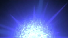 4k Flash ball sphere nebula background,magic power energy tech,nuclear atom. Stock Footage