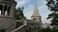 Fisherman's Bastion in Budapest Hungary Stock Footage