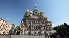 Church of the Saviour on Spilled Blood Stock Footage